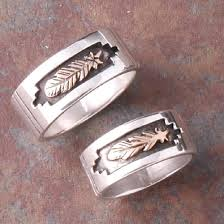 Indian Wedding Vase Story Native American Wedding Rings Sets The Maiden Wore Her Braids