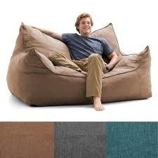 Dorm Room Bean Bag Chairs - big joe lux imperial fuf ton bean bag loveseat teen boy u0027s room