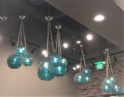 glass fishing float pendant light glass fishing float cluster pendant light 1 large and 2