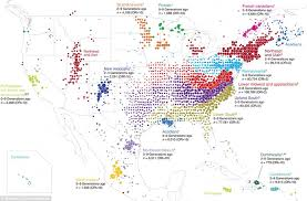 genetic map maps of america shows ancestral origins of each part daily mail