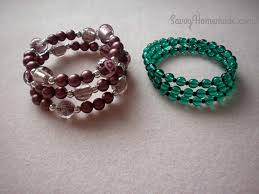 wire bracelet with beads images This quick memory wire bracelets diy will spice up your wardrobe jpg