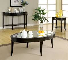 Glass And Wood Coffee Table by Mist Dark Walnut Solid Wood Cross Oval Glass Top Coffee Table