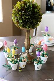 diy easter egg topiary placecards this is our bliss