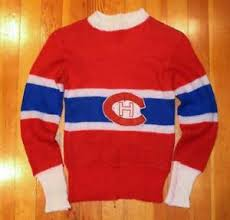 vintage 1940 s child s montreal canadiens wool hockey sweater