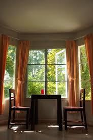 orange window treatment ideas for bay windows surripui net