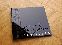 custom fashion designer portfolio book with engraving out