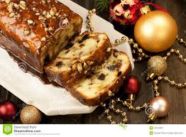 Fruit Decoration For Christmas Cake by Slice Of Christmas Cake Decorated With Walnuts Royalty Free Stock