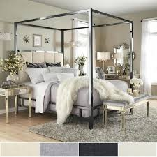 Gold Canopy Bed Black Nickel Metal Canopy Bed With Vertical Panel Gold Canopy Bed