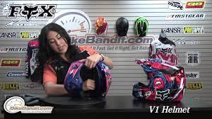fox v1 motocross helmet fox v1 helmet 2014 at bikebandit com youtube