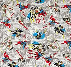 Dc Comics Map Fat Quarter Dc Comics Heroines 100 Cotton Quilting Fabric Wonder