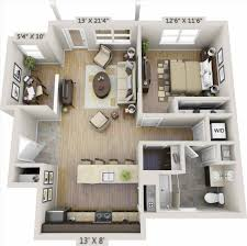 1 bedroom apartment floor plan 3d home design u0026 decorating geek