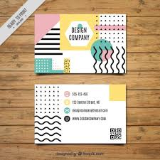 E Business Cards Free Business Card With Geometry Design Vector Free Download