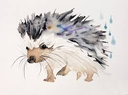 happy hedgehog happy hedgehog hedgehogs and watercolor