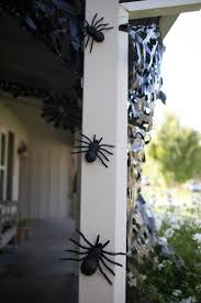 how to make a spider web for halloween trash bag spider webs easy halloween decor spooky spider webs