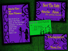 the nightmare before inspired wedding invitation