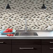 smart tiles 9 10 in x 10 20 in mosaic peel and stick decorative