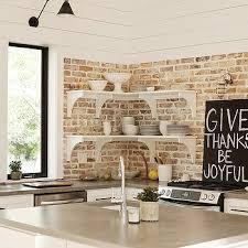 Kitchen Wall Design Ideas White Exposed Brick Kitchen Wall Design Ideas