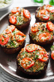 portobello mushrooms stuffed with garlic herb butter eatwell101
