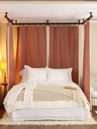 diy canopy bed with curtain rods diy ideas for getting the look of