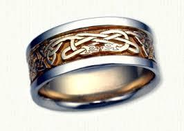 wolf wedding rings celtic animal knot wedding rings custom celtic wedding rings