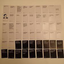 here u0027s the full cards against humanity deck used at american