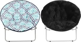 Blue Saucer Chair Walmart Com Mainstays Oversize Saucer Chairs Only 19 97