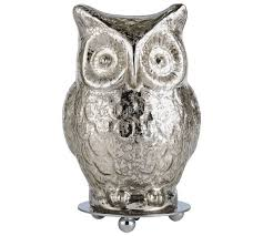 Owl Table Lamp Buy Heart Of House Silva Glass Owl Table Lamp Silver At Argos Co