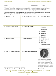 best ideas of compound inequalities worksheets with format sample