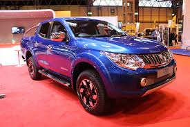 mitsubishi blue mitsubishi l200 2016 model blue at the cv show 2016 commercial