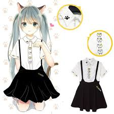 Neko Halloween Costume Xl Neko Atsume Shirt Suspender Skirt Sp165716