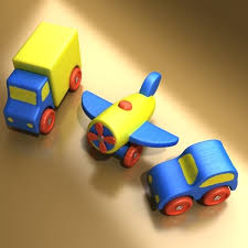 3d model wooden toy car truck cgtrader