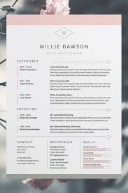 free resume cover letter samples downloads best 25 free cv template ideas on pinterest simple cv template millie resume cv template word photoshop indesign professional resume design