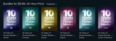 apple is offering 10 movies for 10 to celebrate a decade of