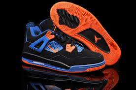 kid jordans best choice nike air 4 shoes kid s grade aaa black blue