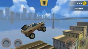 monster truck video game play stunt car challenge 3 game play streets of san francisco