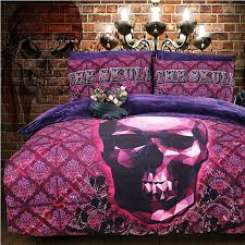 ruby and deep purple skull print tribal plaid hipster style