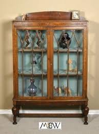 Oak Wall Mounted Display Cabinet Vintage Curio Cabinets Foter