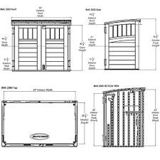 Suncast Horizontal Utility Shed Bms2500 by Bms2500 U2013 34ft Kensington 6 Horizontal Shed Suncast