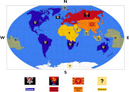 World War I Alliances Map by Map Of George Orwell U0027s 1984 1600x800 Mapporn