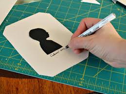 how to make a framed child u0027s silhouette hgtv