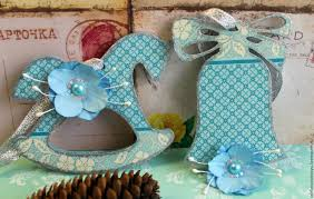 buy christmas decorations turquoise decoupage on livemaster online