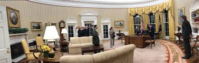 Trump Gold Curtains by Picture First Day In Oval Office For President Donald Trump