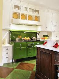 kitchen vintage design with blue and green cabinets ideas