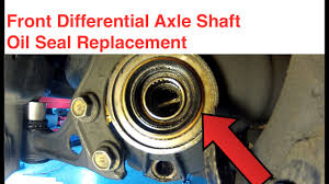 lexus gx470 cv joint front differential axle shaft oil seal replacement youtube