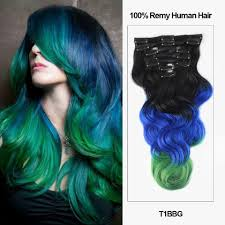 Colored Hair Extension by 18 U201d 7 Pieces Triple Ombre Color Body Wave Clip In Virgin Remy