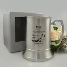 engraved wedding metal beer mug bridal party metal beer mug