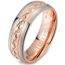 engagement ring engravings gold tone titanium wedding ring engraved inside with i you