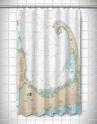 ma cape cod ma nautical chart shower curtain nautical chart