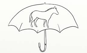 an umbrella coloring page