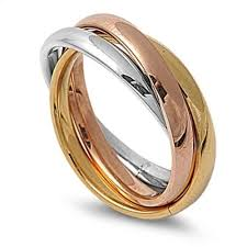 russian wedding band silver yellow gold 3 band russian wedding ring stainless